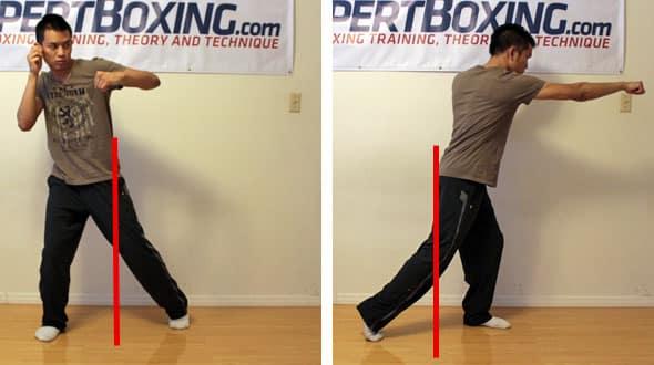 one legged punching off balance