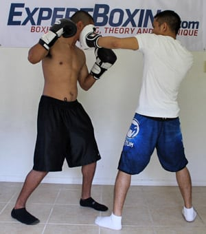 right hand counter 2 inside left hook