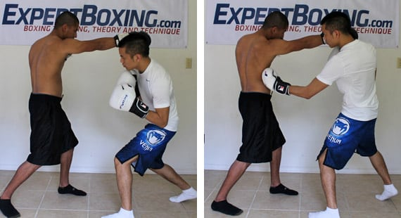 right hand counter 8 slip and left hook