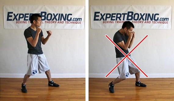 implosive punching stance