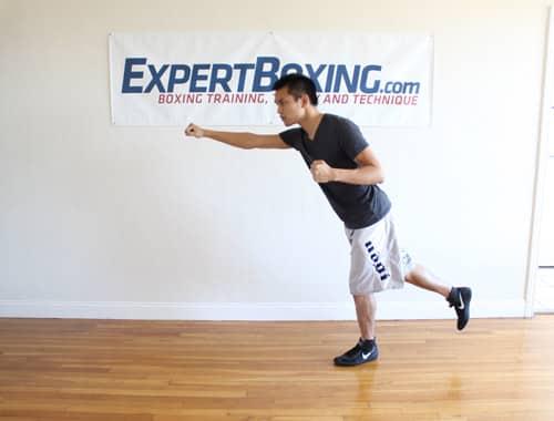 off balance explosive punching