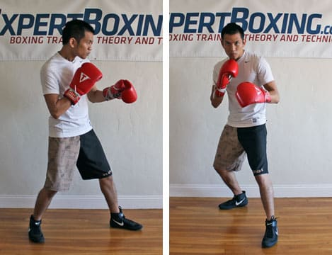 boxing footwork tips - hands down