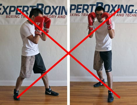boxing footwork tips - hands up