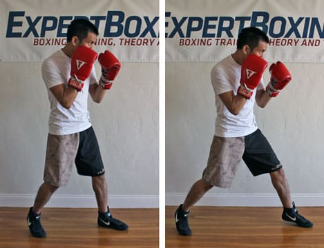 boxing footwork tips - toe step