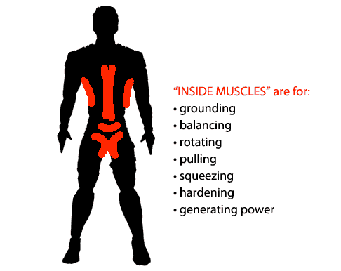 inside muscles generating power