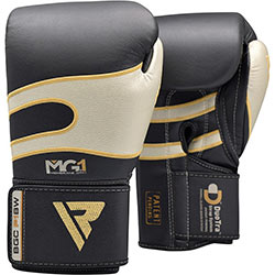 RDX Leather Gel Tech MMA 7oz Grappling Gloves Fight Boxing Punch Bag T1