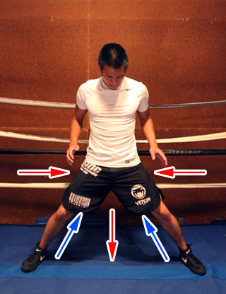 boxing stance too wide wastes leg strength