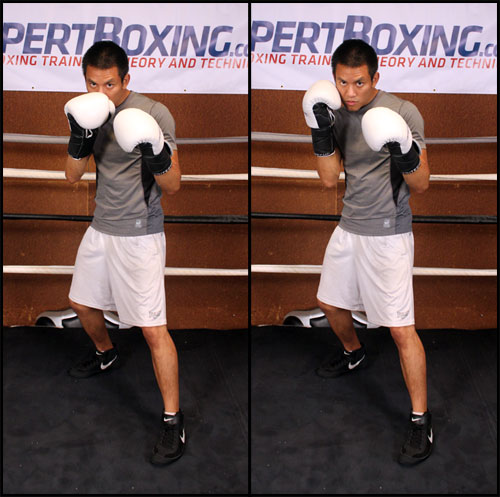 Right hand placement VS southpaw